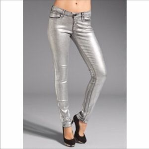 NWT Juicy Couture Silver Foil Holographic Skinny